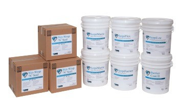 High Temp Encapsulant - SerpiMastic Sprayable (Off-White, 5 Gallon): 2419-5