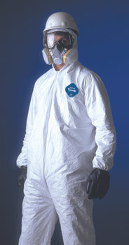 Tyvek Coveralls (Attached Hood/Boots): TY122S-L