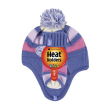 Girls Cosy Ears ThermalHat with Pom Pom & Mittens-Childrens Sets