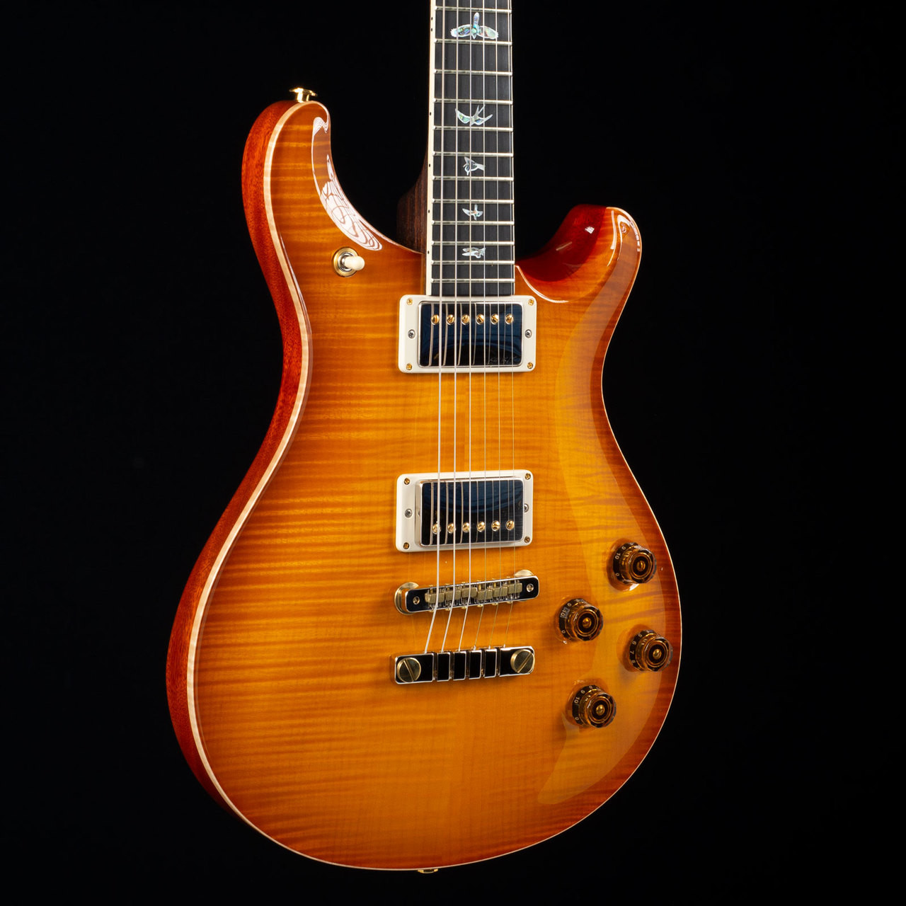 prs mccarty 594 10 top rosewood neck wood library mccarty sunburst