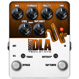 Tech 21 Boost D.L.A. Clean Boost Analog Delay Pedal