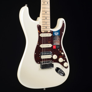 Fender American Elite Stratocaster HSS Shawbucker Olympic Pearl 1366