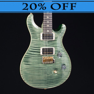 PRS 2016 Custom 24 10 Top Flame Maple Neck Trampas Green 3038