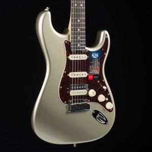 Fender American Elite Stratocaster HSS Shawbucker Streaked Ebony Champagne 4330