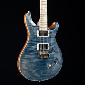 PRS Custom 24 10 Top Flamed Maple Neck Wood Library Faded Whale Blue 2553