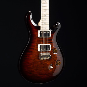PRS Custom 24 10 Top Flamed Maple Wood Library Black Gold Burst 2985