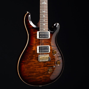 PRS Custom 24 Piezo 10 Top East Indian Rosewood Wood Library Black Gold Burst 2948