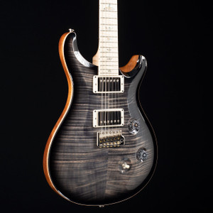 PRS Custom 24 10 Top Flame Maple Neck Wood Library Charcoal Burst 5409