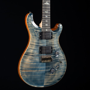 PRS Custom 24/08 10 Top Flame Maple Neck Wood Library Faded Whale Blue 4666