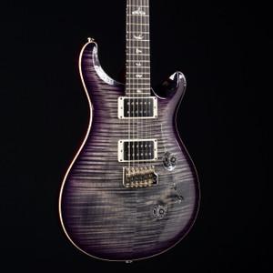 PRS Custom 24 10 Top Charcoal Purple Burst 5566