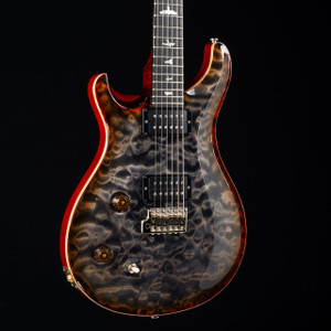 PRS Custom 22 Lefty 10 Top Flame Maple Neck Wood Library Burnt Maple Leaf 5614