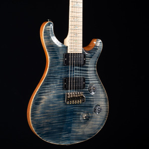 PRS Custom 24 10 Top Flame Maple Neck Wood Library Faded Whale Blue 5574
