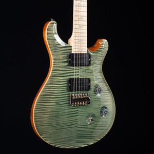 PRS Custom 24 10 Top Flame Maple Wood Library Trampas Green 5114