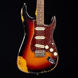 Fender Custom Shop 1963 Relic Stratocaster Three Tone Sunburst W/OHSC & COA R91996 USED