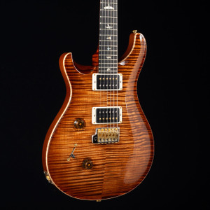 PRS Custom 24 10 Top Lefty Stained Flame Maple Neck Copperhead Burst 7611