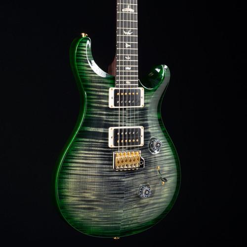 PRS Custom 24 10 Top East Indian Rosewood Neck Charcoal Emerald Wrap Burst 4683