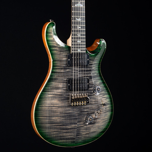 PRS Custom 24/08 10 Top Flame Maple Neck Wood Library Charcoal Jade Burst 5040