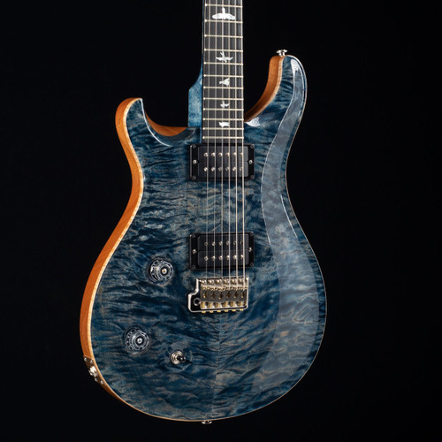 PRS Custom 22 Lefty 10 Top Flame Maple Neck Wood Library Faded Whale Blue 5810