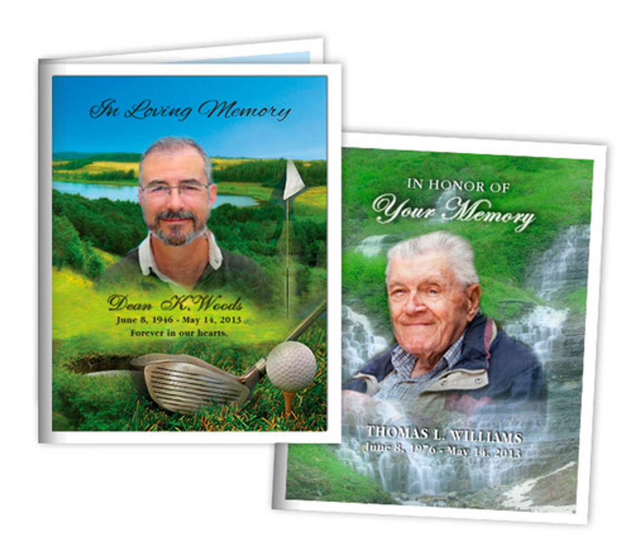 custom small memorial card template the funeral program site