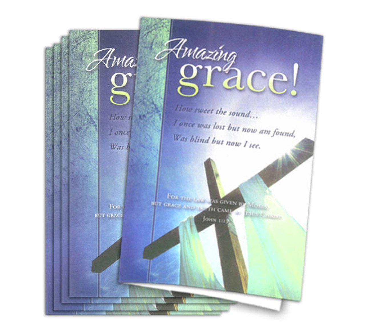Amazing Grace Funeral Program Paper The Funeral Program Site
