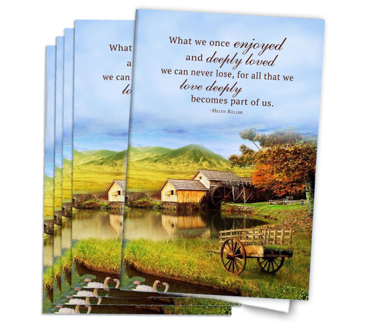farm landscape funeral program paper the funeral program site