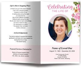 funeral programs and memorials funeral program templates in