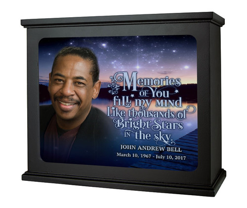 Starry Night Photo Light Box Memorial