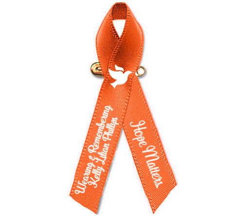 leukemia kidney cancer awareness personalized ribbon orange the
