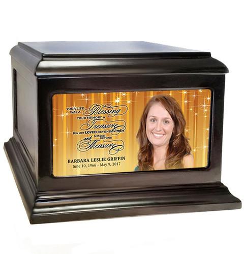 Brilliance Wood Cremation Urn