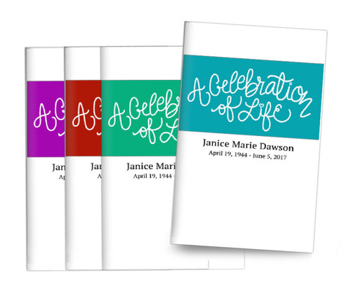 Brush Banner Center Fold Funeral Program Design & Print