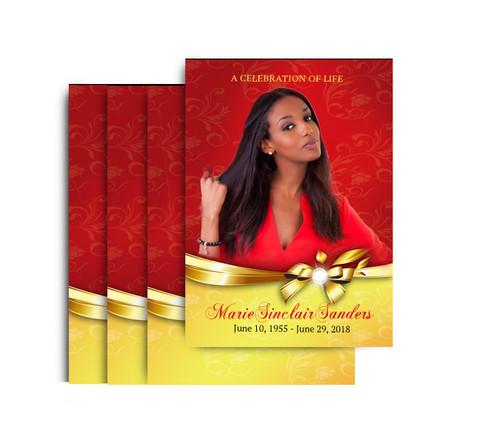 Ribbon Bow No Fold 4x6 Postcard Full Service Design & Print