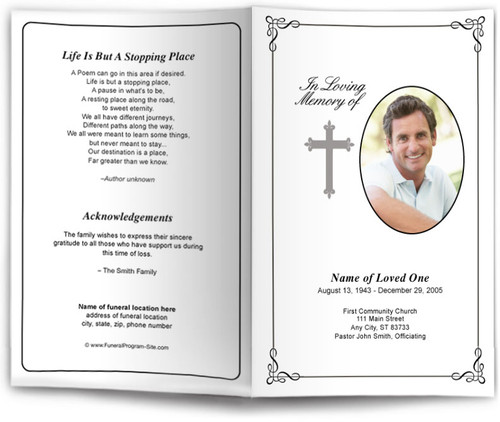 Grace Letter Single Fold Program Template