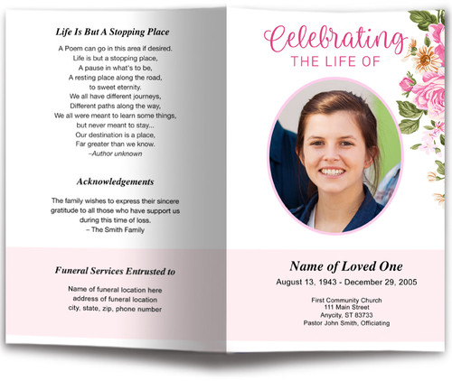 July letter single fold program template the funeral program site july letter single fold program template solutioingenieria Image collections