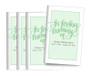 Brush Lettering Center Fold Funeral Program Design & Print