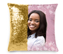 Pink Accent Memorial Magic Swipe Reversible Mermaid Sequin Pillow