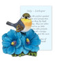 July Larkspur and Bird Sympathy Figurine and Card