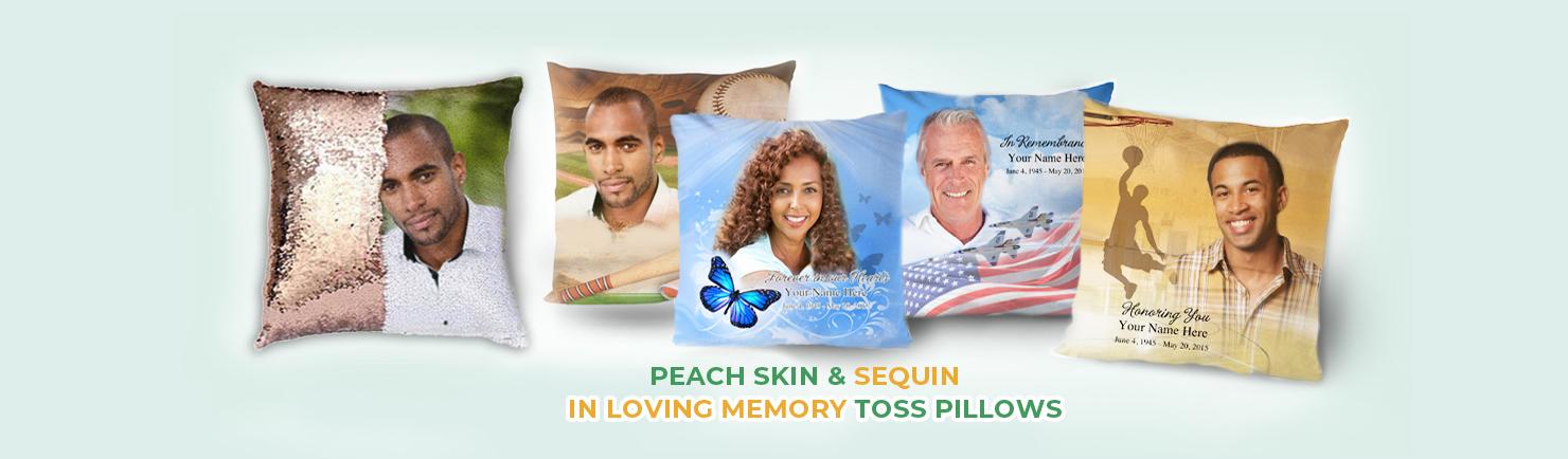 memorial toss pillows