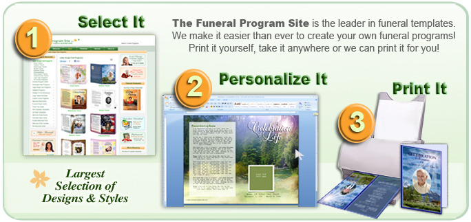 Using An Obituary Template Funeral Program Site