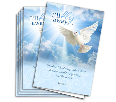 Fly Away Funeral Program Paper The Funeral Program Site