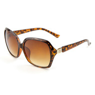 Sunglasses Luxe Women's Designer Rhinestone Sunglasses - Tortoise