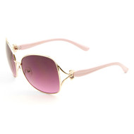 Sunglasses Luxe Oversized Oceanic Lens Bow-tie Sunglasses
