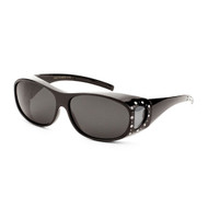 Sunglasses Luxe Polarized Women's Fit-Overs with Rhinestones