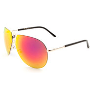 KHAN Fashion Metal Aviator Sunglasses with Color Mirror Lens KN-1086-RCM