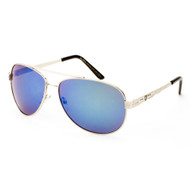 KHAN Metal Aviator Sunglasses with Color Mirror Lens for Him - KN-M21004-CM