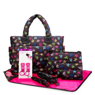CiPU CT-Bag 2.0 ECO Diaper Bag Tote 9 Piece Combo Set (Rock Star)