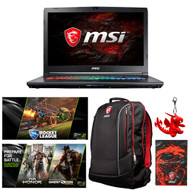 "MSI GP72VR Leopard Pro-284 VR-Ready 17.3"" Gaming Laptop - Core i7-7700HQ (Kaby Lake), GTX1060,  16GB DDR4, 512GB SSD + 1TB HDD, Windows 10"