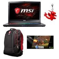 """MSI GP72X Leopard-667 17.3"""" Gaming Laptop - Intel Core i7-7700HQ, GTX1050, 16GB DDR4, 128GB NVMe SSD +1TB HDD, Win10, VR Ready"""