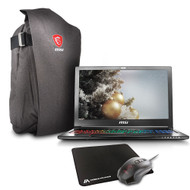"MSI GS63 STEALTH-061 15.6"" FHD Gaming Laptop - Intel i7-7700HQ Kabylake, 16GB RAM, 128GB PCIe SSD + 1TB HDD, GTX1050, Win 10"