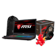 "MSI GP63 Leopard-041 15.6"" Gaming Laptop - Intel Core i7-8750H, GTX1050TI, 16GB DDR4, 128GB SSD +1TB, Win10"