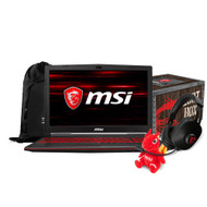"MSI GL63 8RD-067 15.6"" Gaming Laptop - Intel Core i7-8750H, GTX1050TI, 16GB DDR4, 128GB SSD+1TB, Win10"